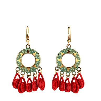 voordelige Dames Sieraden-Dames Druppel oorbellen Patroon Etnisch oorbellen Sieraden Rood / Roze Voor Dagelijks 1 paar