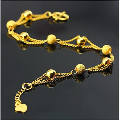 voordelige Dames Sieraden-Heren Dames Armbanden met ketting en sluiting meetkundig Liefde Modieus Verguld Armband sieraden Goud Voor Dagelijks Werk