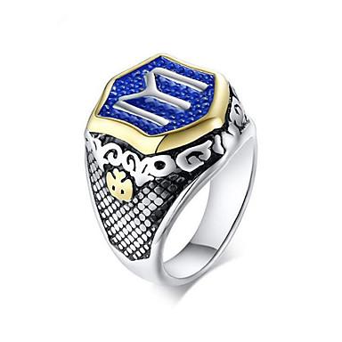 voordelige Herensieraden-Heren Ring 1pc Zilver Titanium Staal Geometrische vorm Modieus Feest Dagelijks Sieraden meetkundig Totem Series Cool