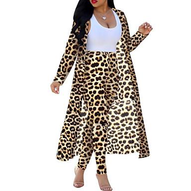 voordelige Nieuwe collectie-Dames Boho / Street chic Set Pantalon Luipaard