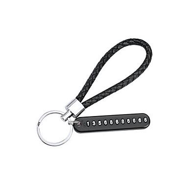 voordelige Autohangers & Ornamenten-auto sleutelhanger hanger anti-verloren telefoonnummer kaart motorfiets gevlochten koord sleutelhanger ms.