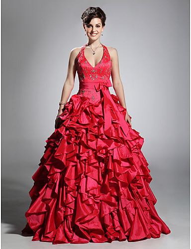 be31e3188efb μπάλα halter φόρεμα πάτωμα-μήκους ταφτά prom φόρεμα 167410 2019 ...