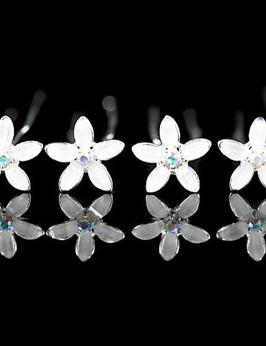 billige Blomsterpike-Dame Blomsterpige Legering Hodeplagg-Bryllup Spesiell Leilighet Avslappet Kontor & Karriere Hårspenne 4 deler