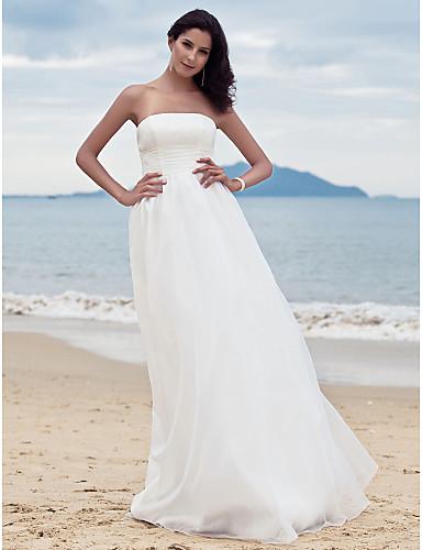 17bc1c1dce suknia ślubna otoczka   kolumna podłogi długość bez ramiączek organza