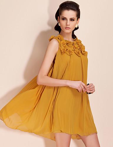 ts costurado à mão vestido plissado embellishement jóia (mais cores)