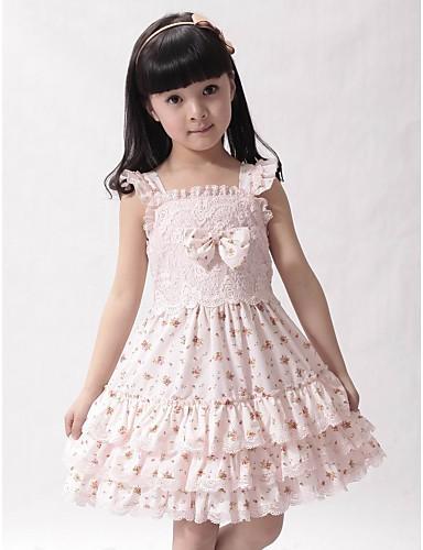 A-linje torg spets differentierad flicka klänning med rosett (er) 322853  2018 –  29.99 803092a54f1f8