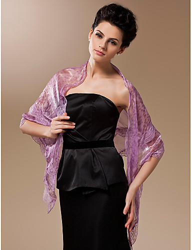 Silk Party Evening Office & Career Shawls Wedding  Wraps With Lace Shawls