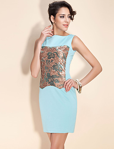 Women's Stylish Work Sophisticated Stage Props Sheath Dress Sequins
