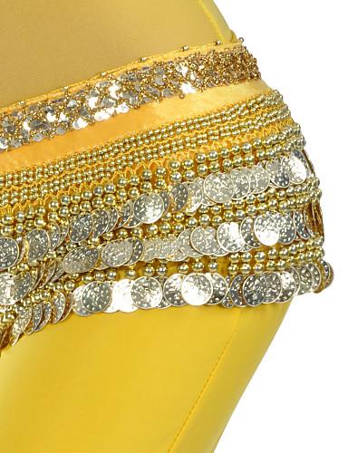 billige Bryllup- & Eventsalg-Magedans Bælte Dame Trening Polyester Perlearbeid / Mynter Magedans Hofteskerf / Oppvisning