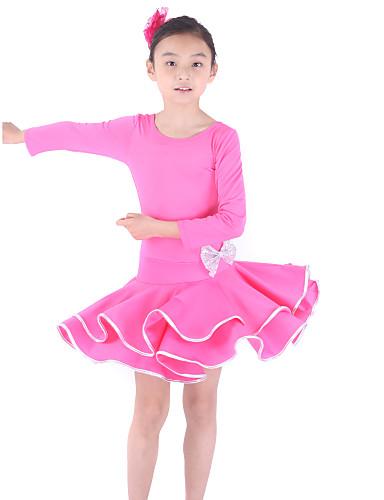 Latin Dans Kjoler Træning Viskose 3/4-ærmer