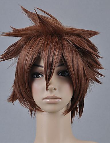 Недорогие Парики для косплея видеоигр-Kingdom Hearts Sora Муж. 12 дюймовый Термостойкое волокно Аниме Косплэй парики