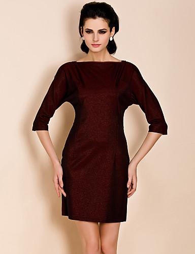 TS молнии три четверти рукав оболочка платье