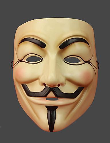 halpa Cosplay ja rooliasut-V for Vendetta Naamio Miesten Joulu Halloween Karnevaali Festivaali / loma PVC Beesi Karnevaalipuvut Painettu