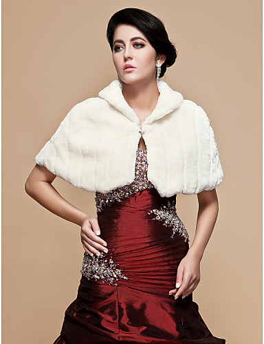 nydelig faux fur bryllup / spesiell anledning sjal / wrap