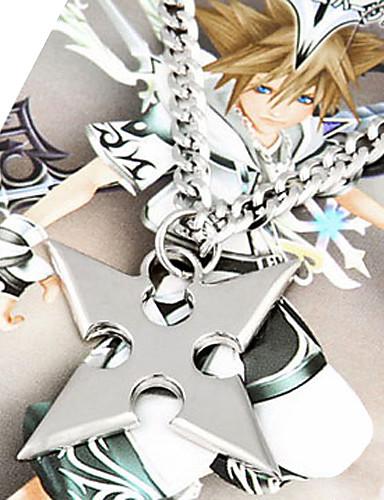 voordelige Cosplay & Kostuums-Sieraden geinspireerd door Kingdom Hearts Roxas Anime / Videogames Cosplayaccessoires Kettingen Legering Heren Halloweenkostuums