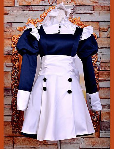 povoljno Anime kostimi-Inspirirana Crna Butler Kostimi sluškinje / Mey-Rin Anime Cosplay nošnje Japanski Cosplay Suits / Dresses Kolaž Dugih rukava Haljina / Traka za kosu Za Žene / Saten
