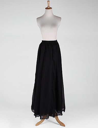 Taffeta/Chiffon A-Line 2 Tiers Full-Length Slip Style/Wedding Petticoat(More Colors)