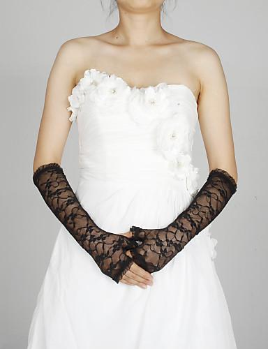 krajka loket délka rukavice party / večerní rukavice klasický ženský styl