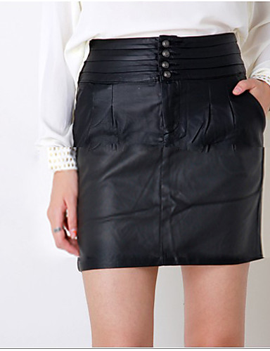 Women's Black Skirts , Work/Casual Mini