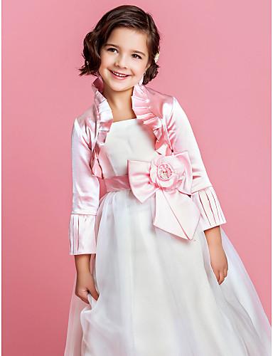 Matrimonio / Da sera Satin Cappotti / Giacche Maniche lunghe Coprispalle per bambini