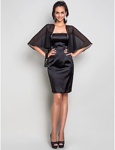 Eng anliegend Trägerlos Knie-Länge Chiffon Stretch - Satin Cocktailparty / Hochzeitsfeier Kleid mit Plissee durch TS Couture®