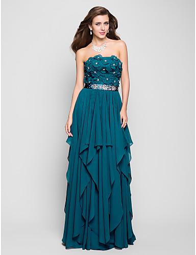 Haljina / stupac bez krošnje duljine krojačke haljine s bordiranjem od ts couture®