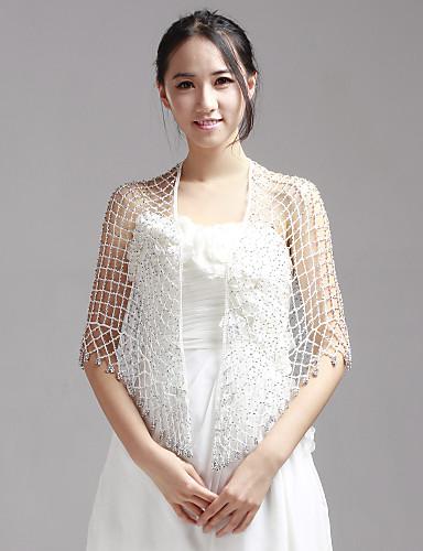 Mooie Rayon Avond / bruiloft sjaal met Beading (meer kleuren)