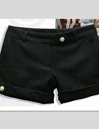 Damen Street Schick Kurze Hosen Hose Solide