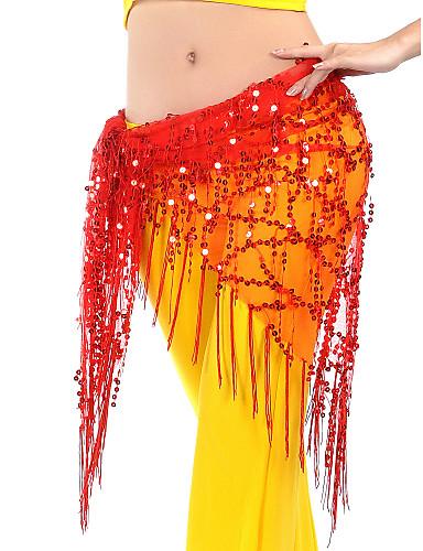 Göbek Dansı Göbek Dansı Hip Şalları Kadın's Eğitim ChinIon Payet Püsküllü Göbek Dansı Kalça Atkısı
