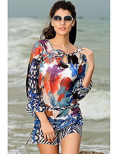 Women's Boho Cover-Up - Floral