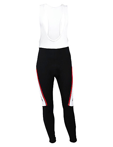cheap Cycling Clothing-Malciklo Men's Cycling Bib Tights White Denmark Champion National Flag Bike Tights Thermal / Warm Fleece Lining Breathable Winter Sports Polyester Fleece Denmark Mountain Bike MTB Road Bike Cycling