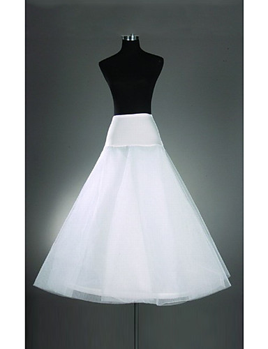 Wedding Special Occasion Slips Organza Lycra Floor-length A-Line Slip With