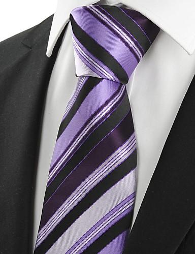 Bărbați Dungi Toate Sezoanele Petrecere Altele,Cravată Mov