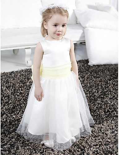 7ae8597196a cheap Flower Girl Dresses-A-Line   Princess Floor Length Flower Girl Dress -
