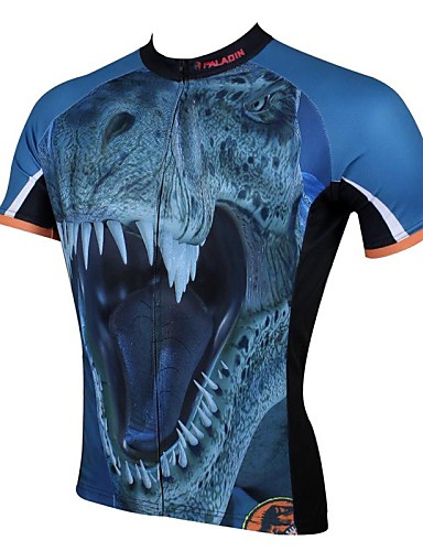 cheap Cycling Clothing-ILPALADINO Men's Short Sleeve Cycling Jersey - Blue Bike Jersey Top Breathable Quick Dry Ultraviolet Resistant Sports 100% Polyester Mountain Bike MTB Road Bike Cycling Clothing Apparel