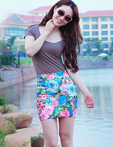 Γυναικεία Κολάν Κλασσικό   Διαχρονικό Μίνι Φούστες - Πολύχρωμο   Δραστική  Εκτύπωση da135d9d737