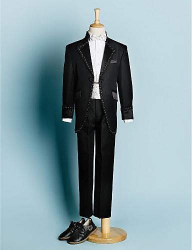 b63a2d9512 Poliéster Vestido de Padrino - 5 Piezas Incluye Chaqueta   Camisas    Pantalones   Faja   Lazo