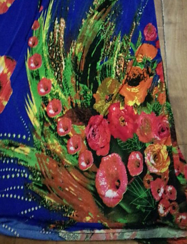 TS-Casual Print Halter Beach Maxi šaty (Print Náhodné)