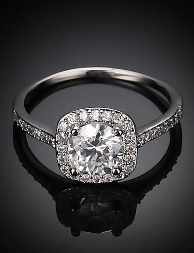 4c448c17b ... HALO Vyzvánění Zásnubní prsten Postříbřené Pozlacené láska dámy  Evropský Pro nevěstu Fashion Ring Šperky Zlatá / Stříbrná / Růžové zlato  Pro Svatebn