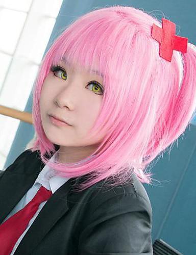 voordelige Cosplay & Kostuums-Cosplay Amu Hinamori Cosplaypruiken Dames 14 inch(es) Hittebestendige vezel Roze Anime