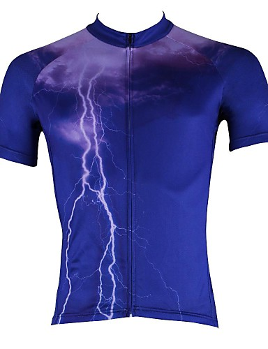 cheap Cycling Clothing-ILPALADINO Men's Short Sleeve Cycling Jersey Bike Jersey Top Breathable Quick Dry Ultraviolet Resistant Sports 100% Polyester Mountain Bike MTB Road Bike Cycling Clothing Apparel