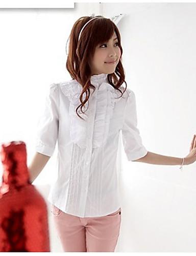 Damen Solide-Niedlich Hemd