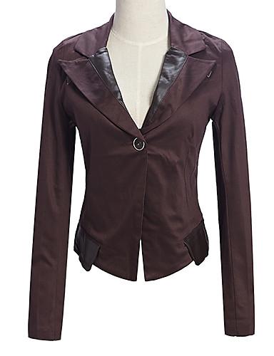 Damen Schick & Modern Blazer, Solide Baumwolle Moderner Stil Farbbildschirm