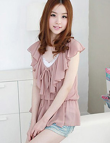 Damen Solide - Grundlegend Bluse