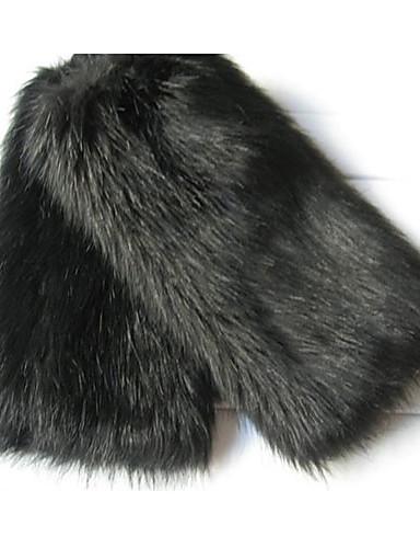 moda ține de cald blană curea picior negru