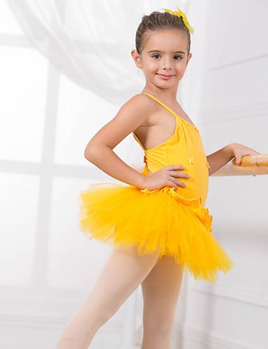 preiswerte Ballettbekleidung-Tanzkleidung für Kinder / Ballett Turnanzug Training Baumwolle Applikationen / Schleife(n) Ärmellos