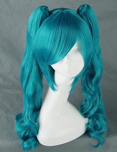 cheap Videogame Cosplay-Vocaloid Hatsune Miku Women's 30 inch Heat Resistant Fiber Anime Cosplay Wigs
