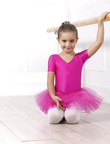 preiswerte Ballettbekleidung-Ballett Kleider / Kleider & Röcke / Balletröckchen Damen Elasthan / Tüll Kurze Ärmel / Aufführung