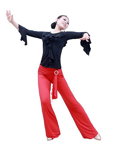 Бальные танцы Нижняя часть Жен. Выступление Учебный Эластичный шелк, как атлас Длинный рукав