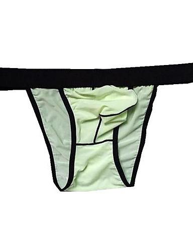 Men's Solid G-string Underwear,Ice Silk